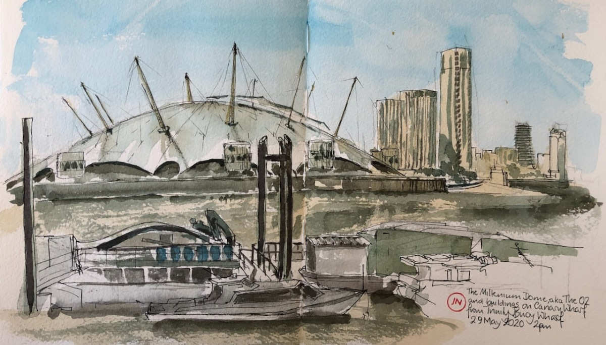The O2 from Trinity Buoy Wharf