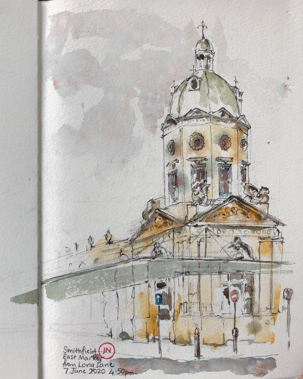Smithfield East Market EC1 from LongLane