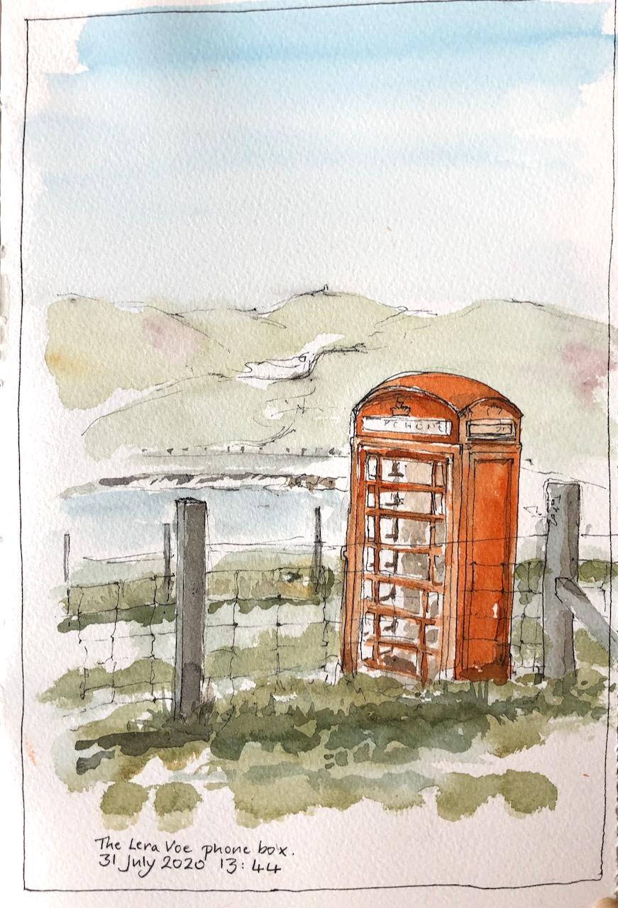Shetland: Lera Voe phonebox