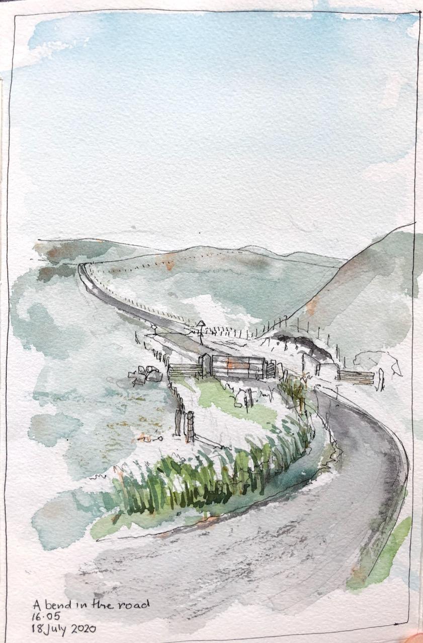 Shetland: Roads in alandscape