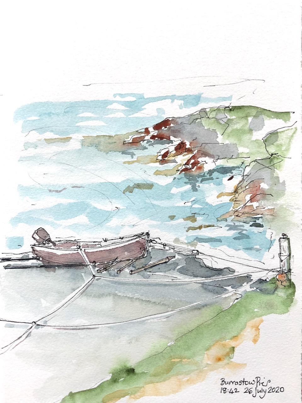 Shetland: Burrastow beach andpier