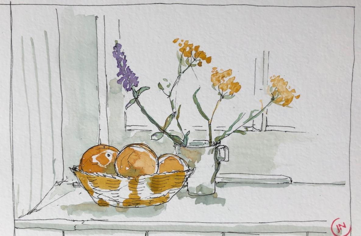 Shetland: garden flowers
