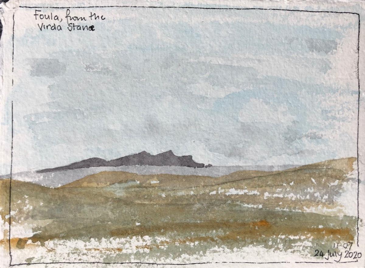 Shetland: Foula on thehorizon