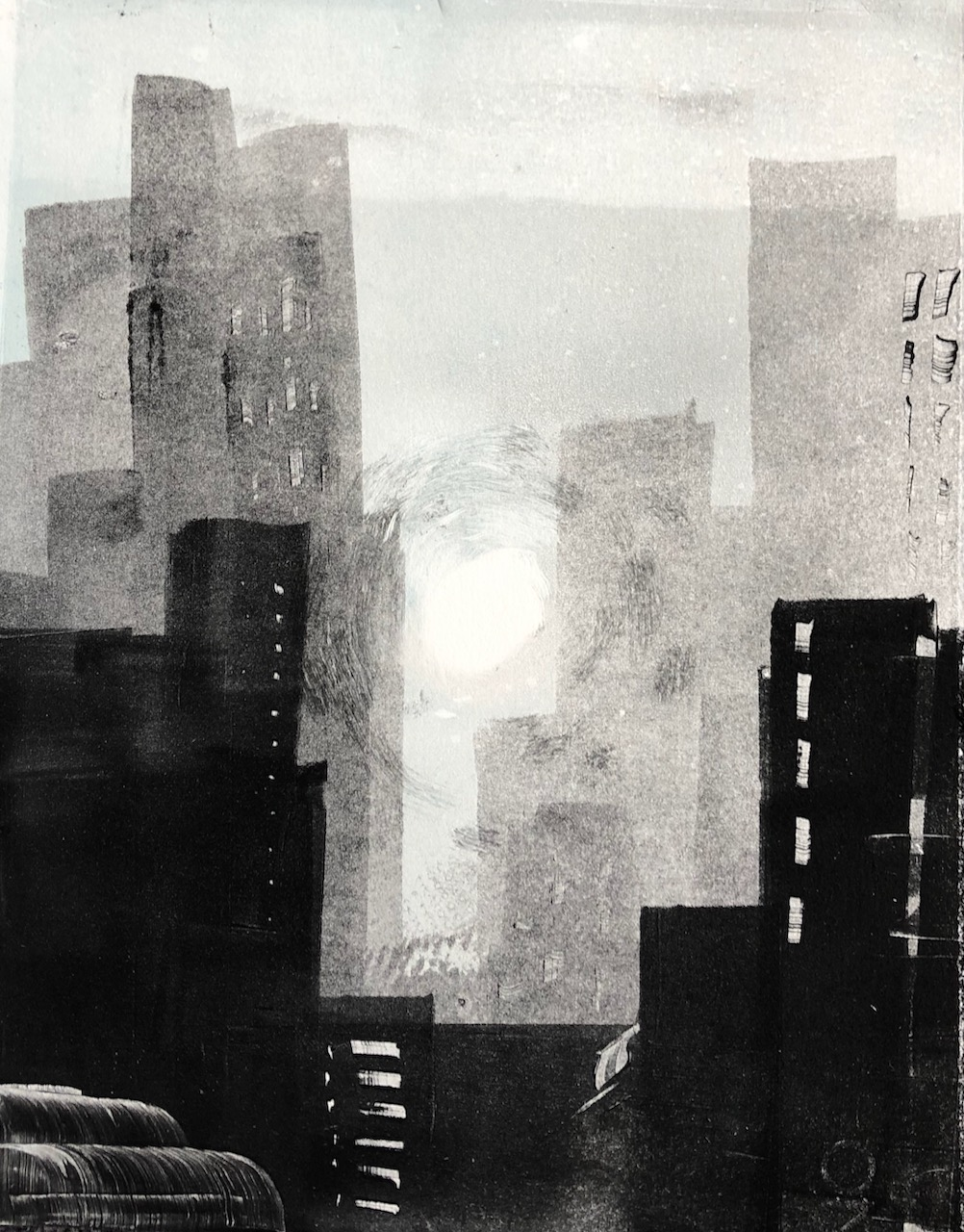 Monoprints: the City (1)