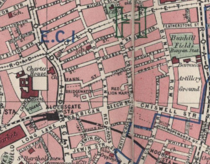 """Maps-of-London.com"" Finsbury, about 1940"