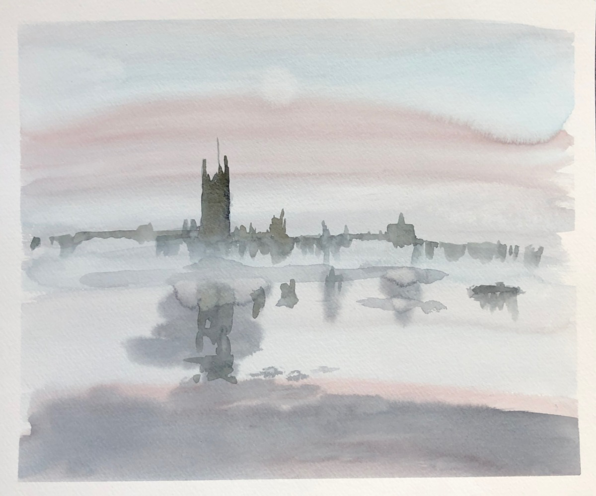Westminster in fog