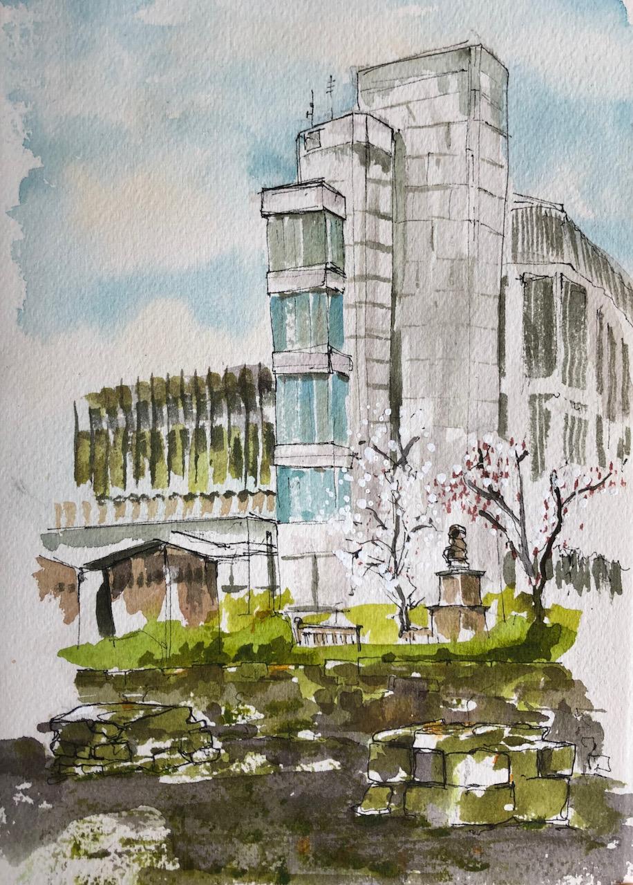 Guildhall from St Mary AldermanburyEC2