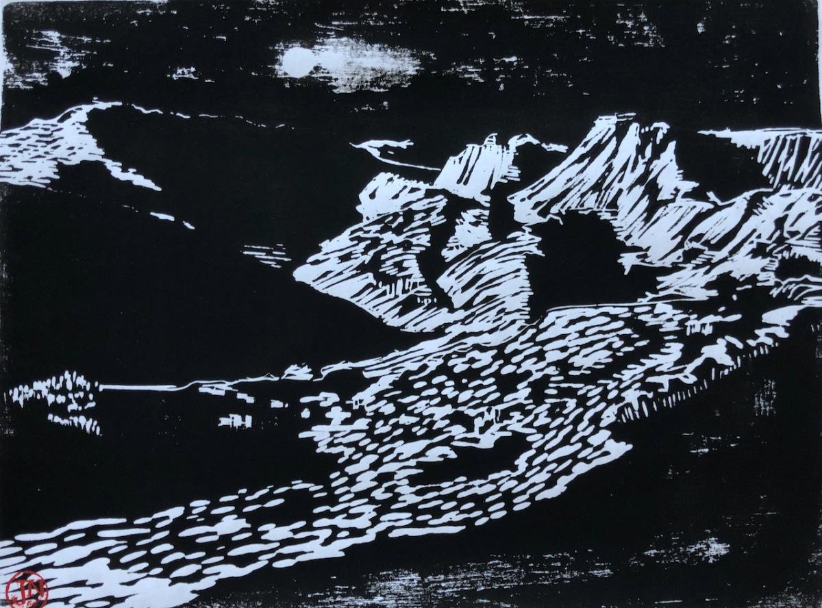 Lake District woodcut
