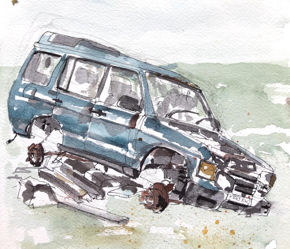 Abandoned Car, Shetland