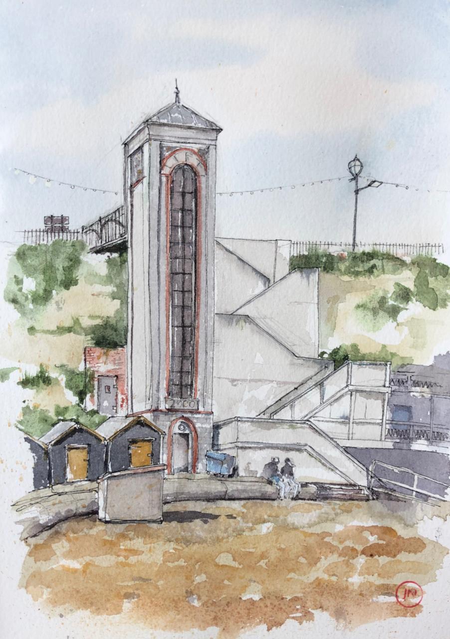 The lift at Viking Bay, Broadstairs,Kent